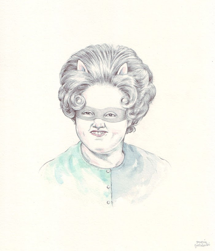 crafterella portrait pencil watercolor drawing illustration Marie Gardeski.jpg
