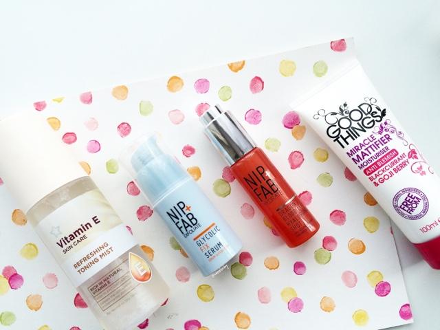 drugstore skincare haul nip+fab, good things and superdrug