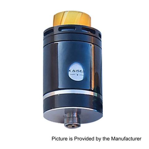 authentic-smokjoy-kaiser-rta-rebuildable-tank-atomizer-black-stainless-steel-3ml-24mm-diameter