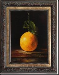 Lemon with leaves Framed