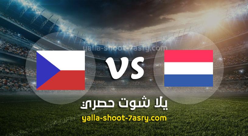 مباراة هولندا وجمهورية التشيك