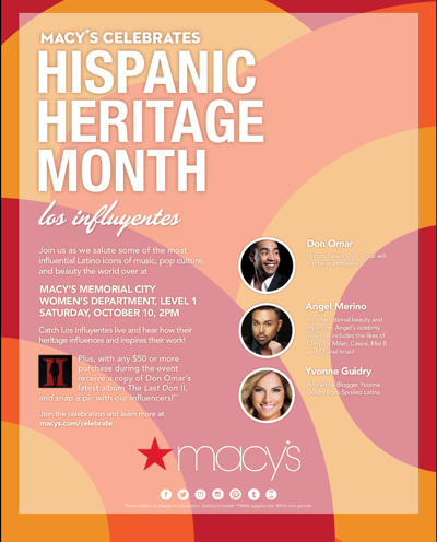 Join me at Macy's for HHM