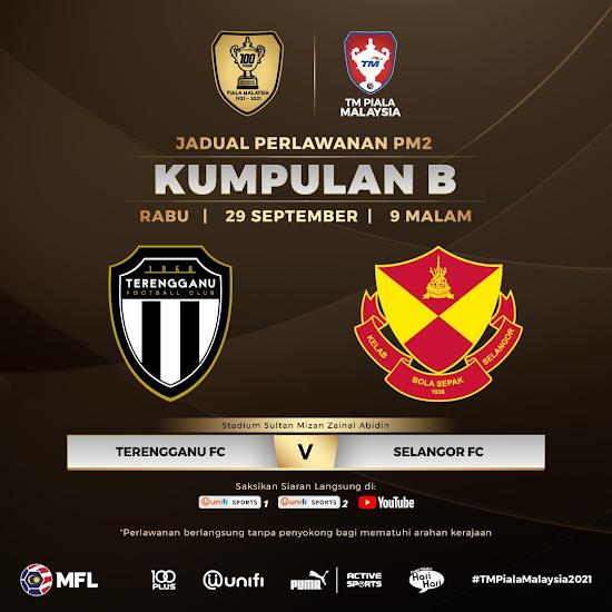 Siaran Langsung Terengganu vs Selangor 29.9.2021