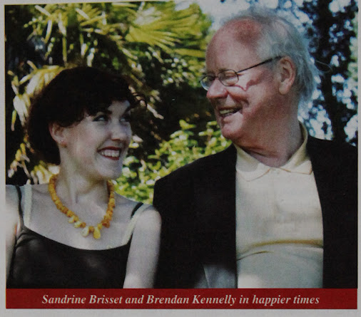 Brendan Kennelly and Sandrine Brisset sharing a sunny secret