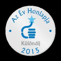 Az Év Honlapja 2015 különdíj logó