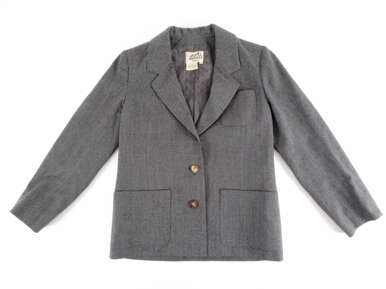 Hermes Grey Wool Blazer