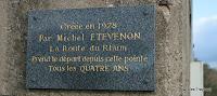 Pointe du Grouin : plaque signalant le point de départ de la Route du Rhum