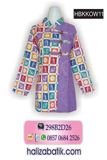 baju batik model terbaru, gambar model baju batik wanita, baju wanita terbaru