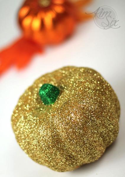 Gold glittered pumpkin
