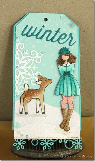 girl and deer tag