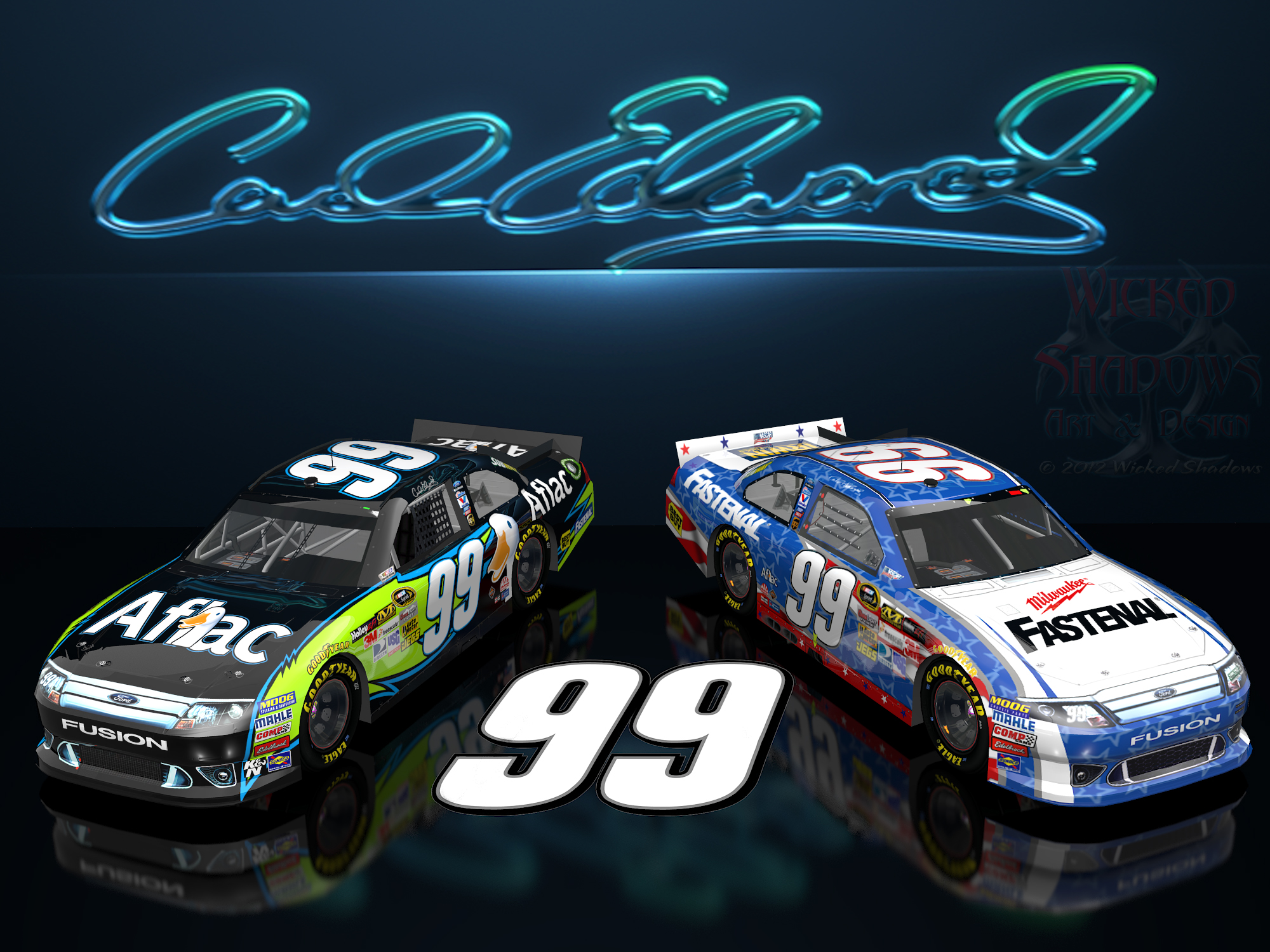 Wallpapers By Wicked Shadows: Carl Edwards Aflac Nascar United ...