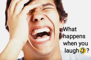 What happens when you laugh?