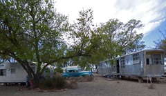 Vintage Cars and Trailers at Enchanted Trails RV Park & Trading Post