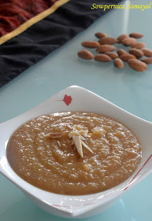 Quick Badam Halwa (Made with Almond meal)
