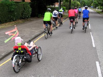 group riding ahead