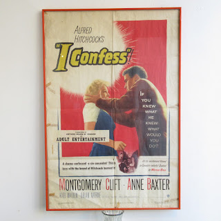 "Alfred Hitchcock ""I Confess"" Original Movie One Sheet Poster"