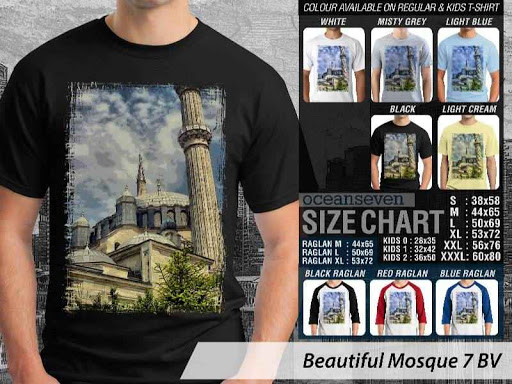 Kaos Muslim Islam Beautiful Mosque 7 distro ocean seven