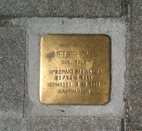 dhr. Meijer Kalf - J.P. Sweelinckstraat 14 - Stolperstein Enschede
