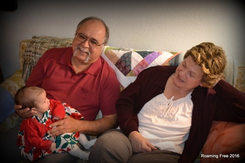 Emma with Grandma and Grandpa