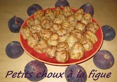 Petits choux à la figue - recette indexée dans les Desserts