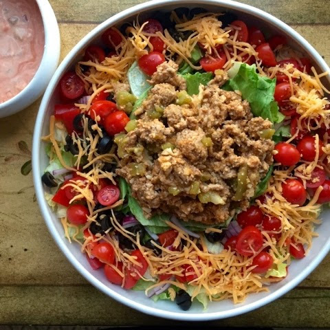 Chicken and Chile Taco Salad (17 Day Diet Friendly)