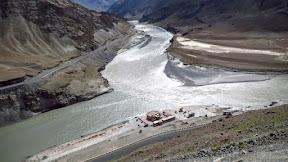 Indus and Zanskar Confluence, Nimmoo