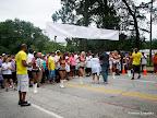 Lining up behind the Atlanta Falcons cheerleaders and Mayor Kasim Reed before the Pink Ribbon Walk.