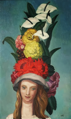 Jean Dupas - Woman with Flowered Hat
