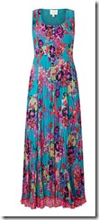East Hope Print Pleated Skirt Maxi Dress
