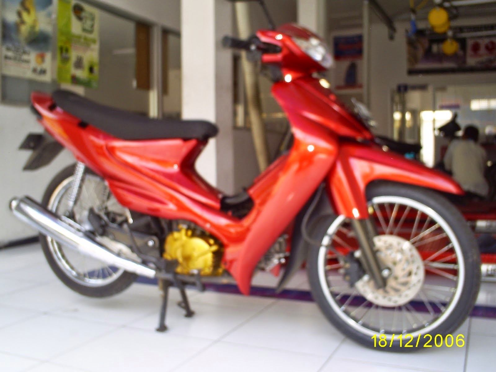 Modifikasi Motor Supra X Airbrush