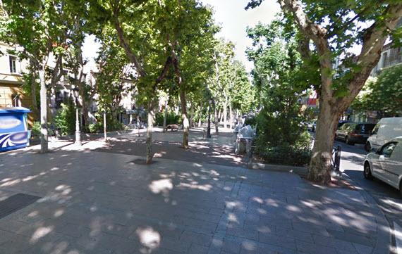 Peatonalización del bulevar Peña Gorbea en Puente de Vallecas