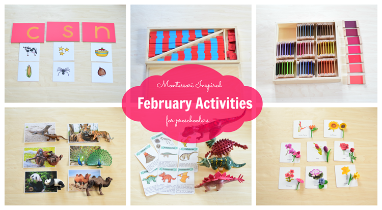 Montessori Inspired February Work for Preschoolers