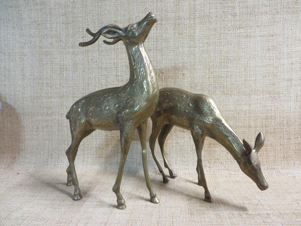 Brass Decorative Deer Pair