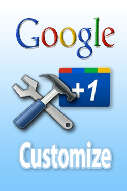 customize google +1 button