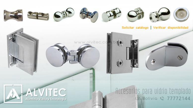 Accesorios para vidrio templado y blindex