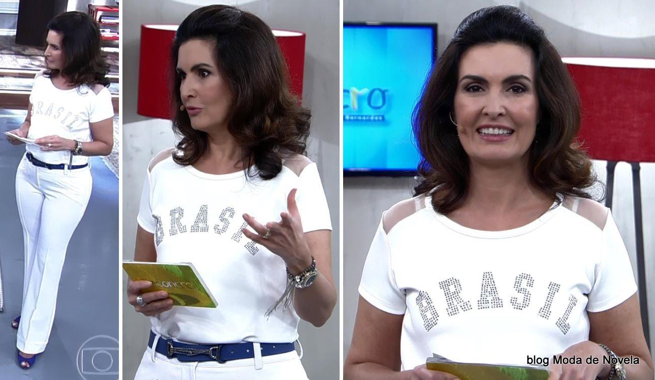 moda do programa Encontro - look da Fátima Bernardes dia 8 de julho