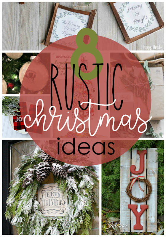 8 Rustic Christmas Ideas at GingerSnapCrafts.com #christmas #rustic #farmhouse #forthehome