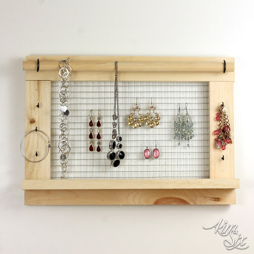 Wall Mounted DIY Jewelry Organizer Do It Herself Worskhops from