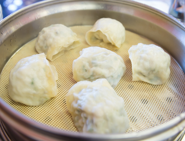 photo of dumplings in a steamer