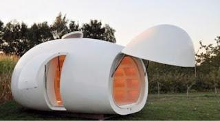 rumah berbentuk aneh seperti telur