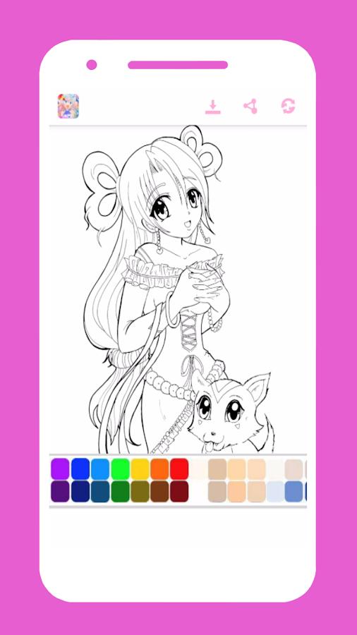 Anime Girl Coloring Book Screenshot