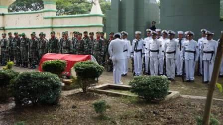Danlanal Tegal Irup Pemakaman Peltu (Purn) Mashar Veteran KKO