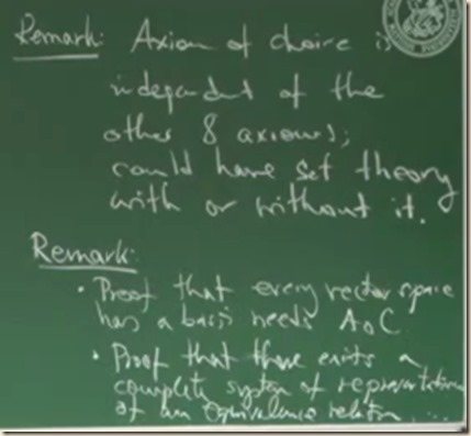 physics set theory axiom choice 4
