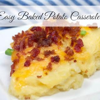 Easy Baked Potato Casserole.