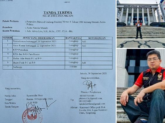 LQ Indonesia Lawfirm: Kami Mulai Melawan Oknum Polri dengan Judicial Review di Mahkamah Konstitusi, Perbaiki Undang-undangnya Dulu
