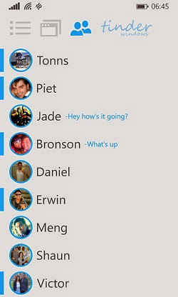 Tinder for windows phone chat