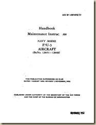 Vought F7U-3 Cutlass Maintenance Instructions Handbook_01