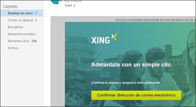 Abrir mi cuenta Xing - 3