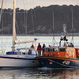 The ALB returning from service on Saturday afternoon with the broken down yacht in tow - 6 December 2014.  Photo credit: Kevin Mitchell, Maritime Images
