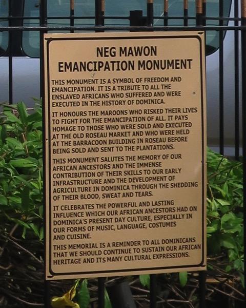 Slavery Statue Plaque